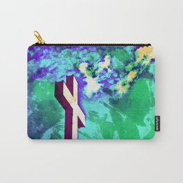 Holy Cross Purple & Green Carry-All Pouch