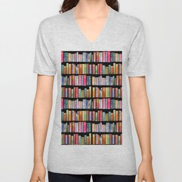 Antique Book Library for Bibliophile Unisex V-Neck