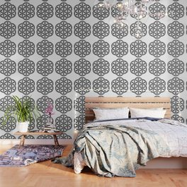 Flower of Life : Kanji Calligraphy Art Wallpaper