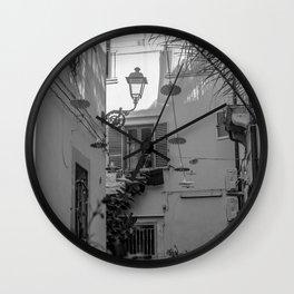 Inner courtyard, Ortigia, Syracuse, Sicily, Wall Clock