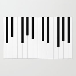Piano keys, music background #society6 #decor #buyart #artprint Rug