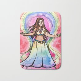 Rainbow Belly Dancer Bath Mat