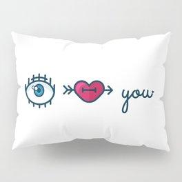 Eye Heart You Pillow Sham