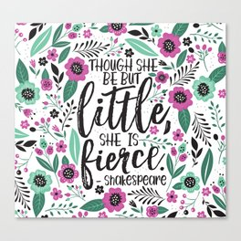 Little and Fierce Canvas Print