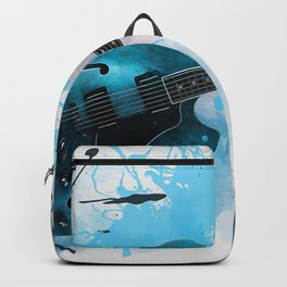 Electric Blue Guitar Backpack