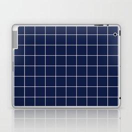 Indigo Navy Blue Grid Laptop & iPad Skin