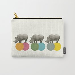 Rambling Rhinos Carry-All Pouch
