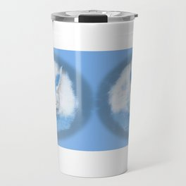 Sleeping Fennec Fox Blue Travel Mug