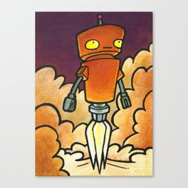 Robot - Launch Canvas Print