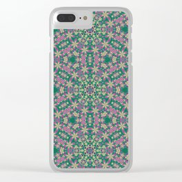 YELLO! Pink Flowers On The Lawn Clear iPhone Case