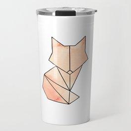 Geometric Fox - Orange Travel Mug