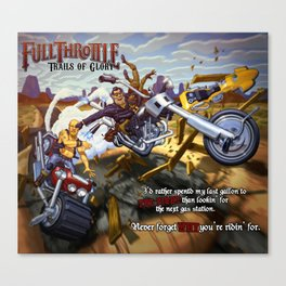 Asphalt & Trouble Canvas Print