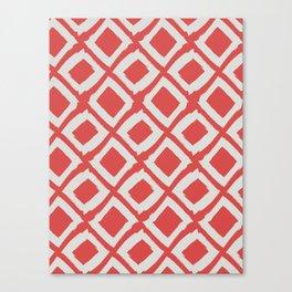 Diamond Pattern on Valencia Red Canvas Print