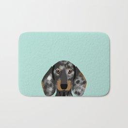 Doxie Dachshund merle dapple dog cute must have dog accessories dog gifts cute doxies dachshunds des Bath Mat