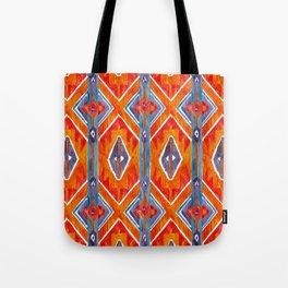 navajo ikat print medium Tote Bag