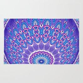 Indian Patterns Mandala Ball - Blue Pink White Rug