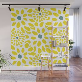 Flowers in Yellow Wall Mural