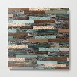 Wood in the Wall Metal Print
