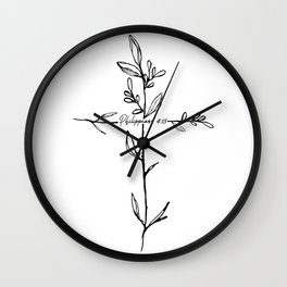 Philippians 4:13 Cross Wall Clock