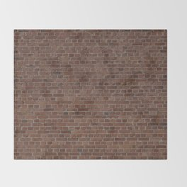 NYC Big Apple Manhattan City Brown Stone Brick Wall Throw Blanket