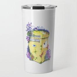Growth on MailBox | Surrealistic Watercolor Painting by Stephanie Kilgast Travel Mug