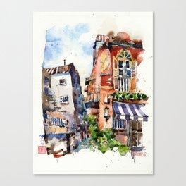 Sunset at Club Street Canvas Print