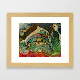 DELFIN Framed Art Print