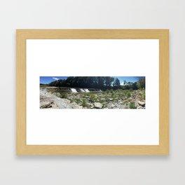 Waterfall Panorama  Framed Art Print