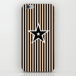 The Greatest Star! Black and Cream iPhone Skin