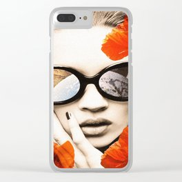 poppy pop (kate Moss) Clear iPhone Case