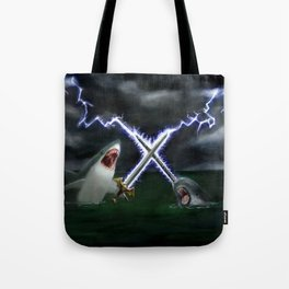 Shark vs. Narwhal  Tote Bag