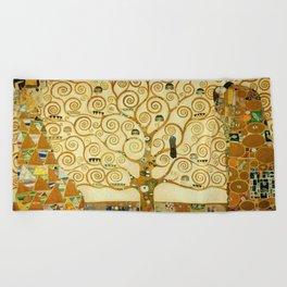 Gustav Klimt The Tree Of Life Beach Towel