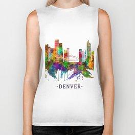 Denver Colorado Skyline Biker Tank