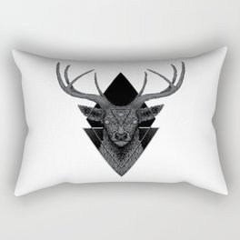 Dark Deer Geometric Rectangular Pillow