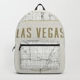 Las Vegas Nevada - Vintage Map and Location Backpack