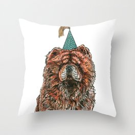 Chow Party Throw Pillow
