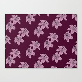 Lily The Tiger - Purple Canvas Print