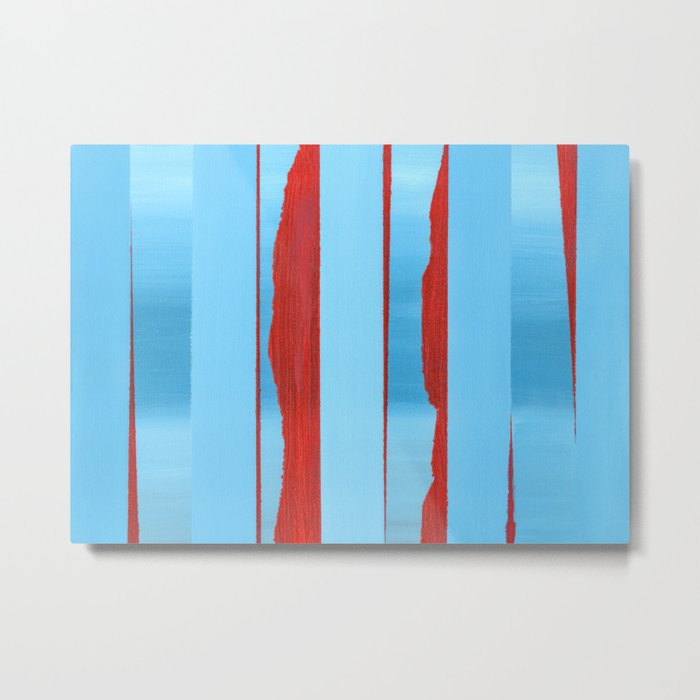 Blue Edge Metal Print