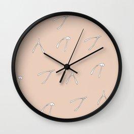 Wish Bone Wall Clock