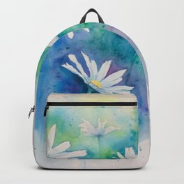 Spring watercolor daisies painting Backpack