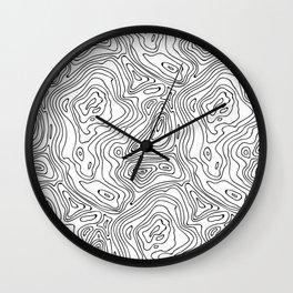 minimal abstract wood Wall Clock