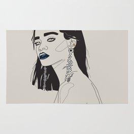 Rihanna blue Rug