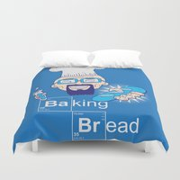 bread Duvet Covers featuring Baking Bread by DarkChoocoolat