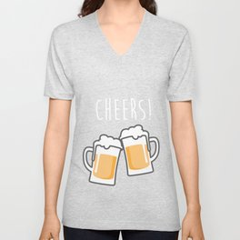 Cheers for peers with beer - Enjoy beer day with your friends Unisex V-Neck