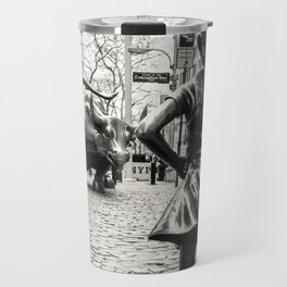 Fearless Girl & Bull - NYC Travel Mug