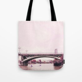 Pink mood at Triana Bridge Tote Bag