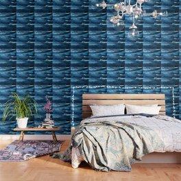 Blue Brush Strokes (Color) Wallpaper