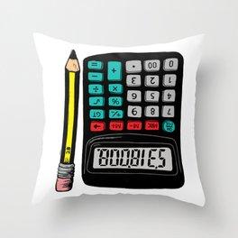 Rude Calculator Throw Pillow