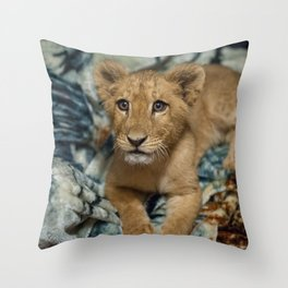 Lambert the Lion and His Blanket Throw Pillow