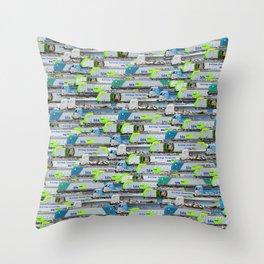 Locomotives - BLS Cargo - by Railcolor Throw Pillow